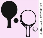 ping pong   table tennis... | Shutterstock .eps vector #1232305129