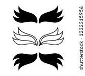 elegant angel flying wings.... | Shutterstock . vector #1232315956