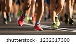 marathon running race  large...   Shutterstock . vector #1232317300