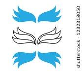 elegant angel flying wings.... | Shutterstock .eps vector #1232318050