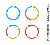 circle arrows steps. processes... | Shutterstock .eps vector #1232319580