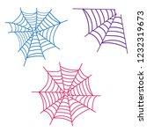 spiderweb vector. spooky corner ...   Shutterstock .eps vector #1232319673