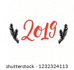 2019 handwritten new year... | Shutterstock .eps vector #1232324113