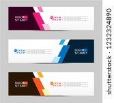 banner background. modern... | Shutterstock .eps vector #1232324890