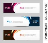 banner background. modern... | Shutterstock .eps vector #1232325739