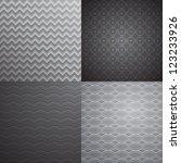 set of four vector seamless... | Shutterstock .eps vector #123233926