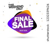final sale tag  bubble banner... | Shutterstock .eps vector #1232339626