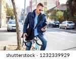 young business man allways work   Shutterstock . vector #1232339929