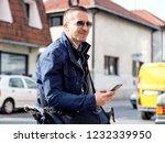 young business man allways work   Shutterstock . vector #1232339950