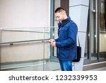 young business man allways work   Shutterstock . vector #1232339953