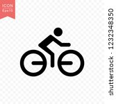 man riding a bicycle icon...