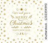 design of christmas greeting... | Shutterstock .eps vector #1232354593