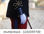 details with the uniform of a... | Shutterstock . vector #1232355730