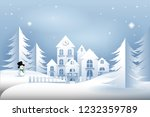 winter landscape vector... | Shutterstock .eps vector #1232359789