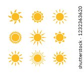 sunny weather abstract flat... | Shutterstock .eps vector #1232363620