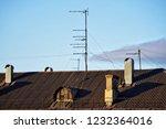 old analog television antennas... | Shutterstock . vector #1232364016