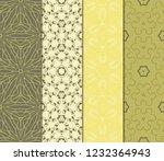 vertical seamless patterns set  ... | Shutterstock .eps vector #1232364943