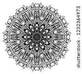 vector floral mandala. vintage... | Shutterstock .eps vector #1232364973