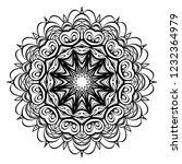 beautiful round flower mandala. ... | Shutterstock .eps vector #1232364979