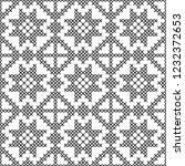 cross stitch  seamless... | Shutterstock .eps vector #1232372653