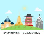 religious places include islam  ... | Shutterstock .eps vector #1232379829