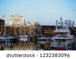 london  uk   march 2018  yachts ... | Shutterstock . vector #1232383096