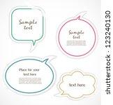 speech bubbles   Shutterstock .eps vector #123240130