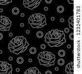 vector of seamless pattern with ... | Shutterstock .eps vector #1232401783