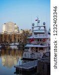 london  uk   march 2018  yachts ... | Shutterstock . vector #1232403346