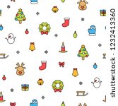 colorful christmas items... | Shutterstock .eps vector #1232413360