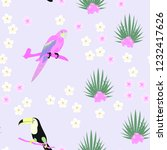 tropical seamless pattern with... | Shutterstock .eps vector #1232417626