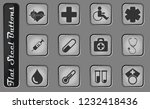 medical vector web icons on the ... | Shutterstock .eps vector #1232418436