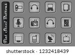 media vector web icons on the... | Shutterstock .eps vector #1232418439