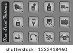 logistics vector web icons on... | Shutterstock .eps vector #1232418460