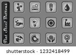 ecology vector web icons on the ... | Shutterstock .eps vector #1232418499