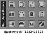 media vector web icons on the... | Shutterstock .eps vector #1232418523