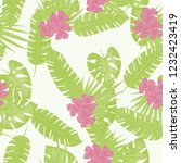 summer seamless pattern with... | Shutterstock .eps vector #1232423419