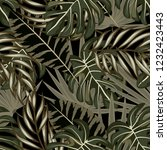 tropical seamless pattern with... | Shutterstock .eps vector #1232423443
