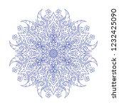 round pattern line thai mandala ... | Shutterstock .eps vector #1232425090