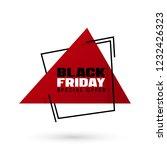 black friday sale vector...   Shutterstock .eps vector #1232426323