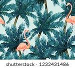 exotic summer print. seamless... | Shutterstock . vector #1232431486