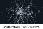 water explosion on black. 3d...   Shutterstock . vector #1232431996