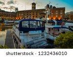 london  uk   march 2018  yachts ... | Shutterstock . vector #1232436010