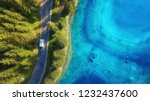 aerial view at the road near... | Shutterstock . vector #1232437600