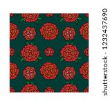seamless floral pattern with... | Shutterstock .eps vector #1232437690