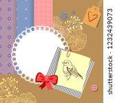 retro scrapbook illustration | Shutterstock .eps vector #1232439073