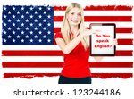 Young Woman With American...