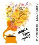jippie  jippie jeah  vector... | Shutterstock .eps vector #1232442850