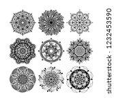 mandala ornaments vector. set... | Shutterstock .eps vector #1232453590
