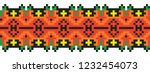 colored embroidery like cross... | Shutterstock .eps vector #1232454073